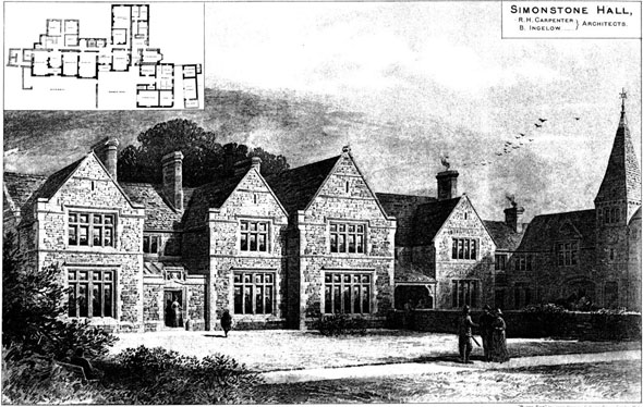 1887 –  Simonstone Hall, Yorkshire