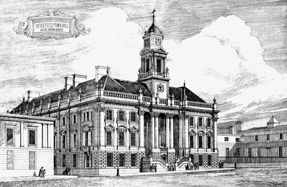 1877 – Third Premiated Design, Wakefield Town Hall, Yorkshire