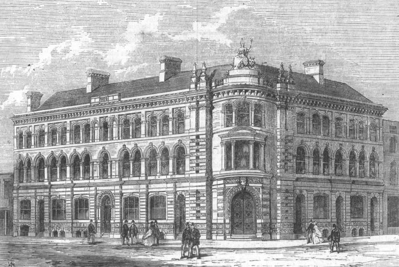 1866 &#8211; Exchange Buildings, Kingston upon Hull, Yorkshire
