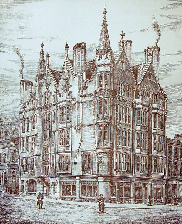 1884 – Pawson Brailsford Building, No.1 High Street, Sheffield, Yorkshire