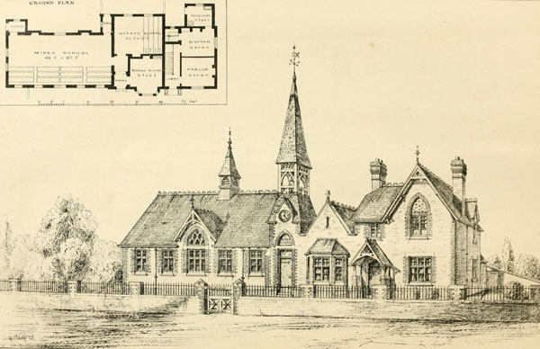 1874 &#8211; School, Keyingham, Yorkshire