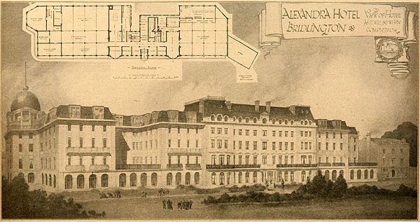 1920 – Design for Alexandra Hotel, Bridlington, Yorkshire