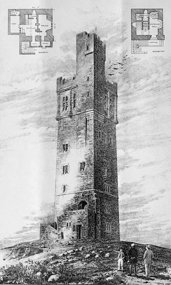 1898 – Castle Hill Tower, Huddersfield, Yorkshire