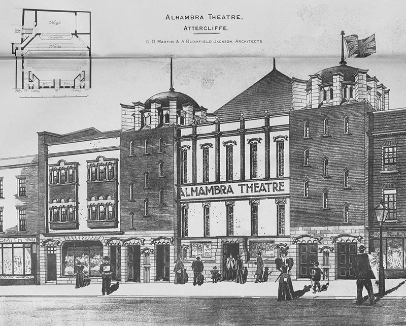 1898 – Alahambra Theatre of Varieties, Attercliffe, Sheffield, Yorkshire
