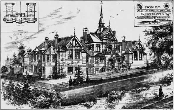 1888 &#8211; Nobles Hospital &#038; Dispensary, Isle of Man