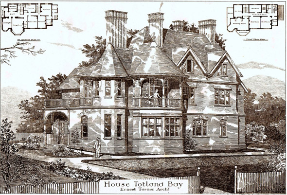 1887 &#8211; House at Totland Bay, Isle of Wight