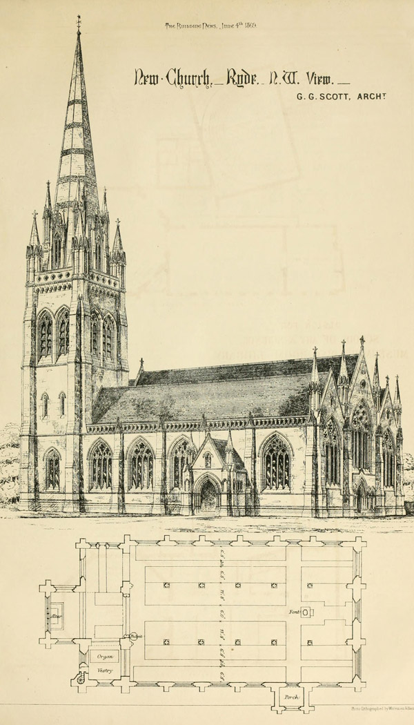 1872 – All Saints Church, Ryde, Isle of Wight
