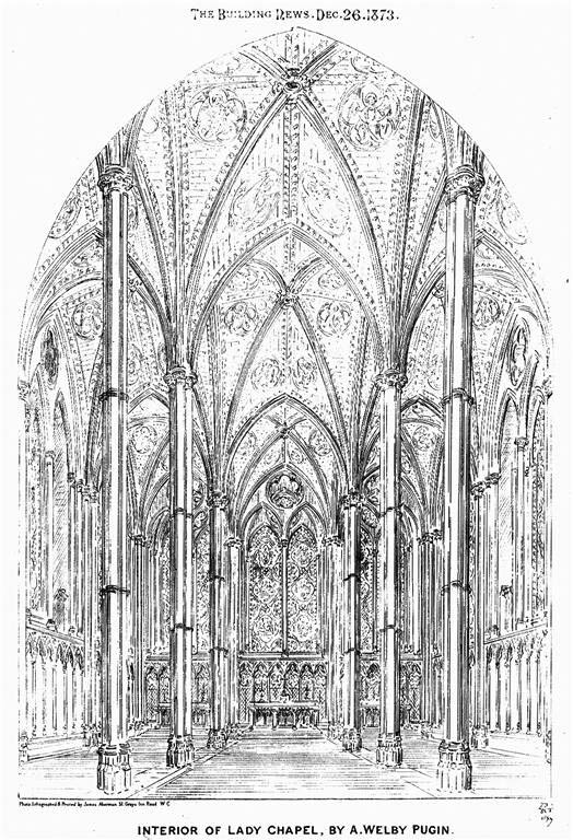 1873 – Interior of Lady Chapel, St. Marys Cathedral, Edinburgh