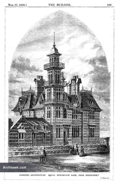 1860 – House at Murchiston Park, Edinburgh