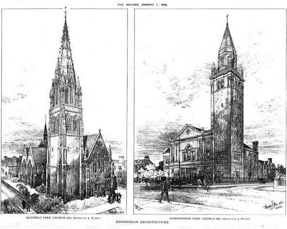 1898 – Mayfield & Morningside Free Churches, Edinburgh