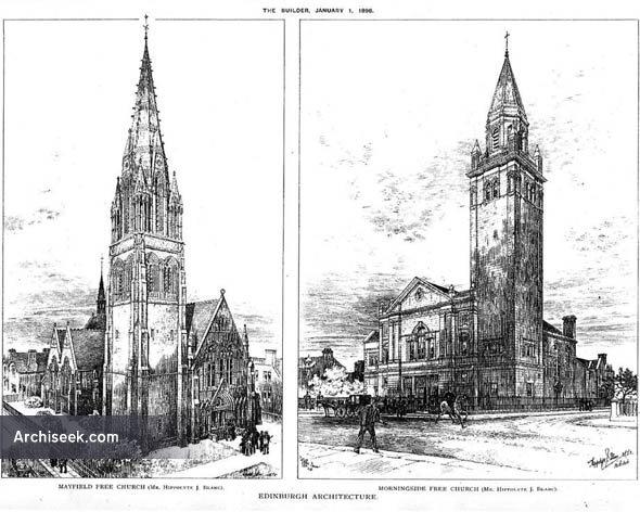 1898 – Mayfield & Morningside Free Churches, Edinburgh