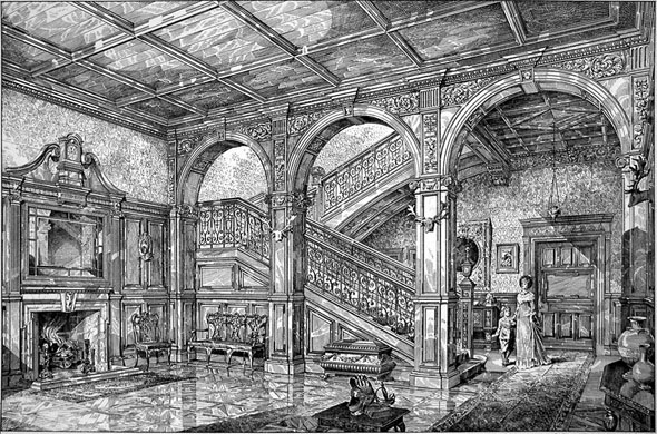 1884 &#8211; Hall &#038; Staircase, Melvin House, Edinburgh