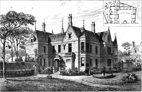 1877 &#8211; House at Edinburgh, Scotland