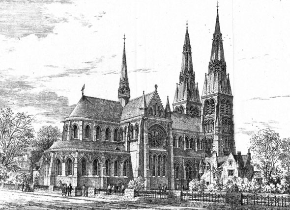 1873 &#8211; Design for Edinburgh Cathedral