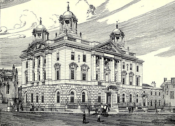 1905 – Unbuilt Design for County Buildings, Edinburgh