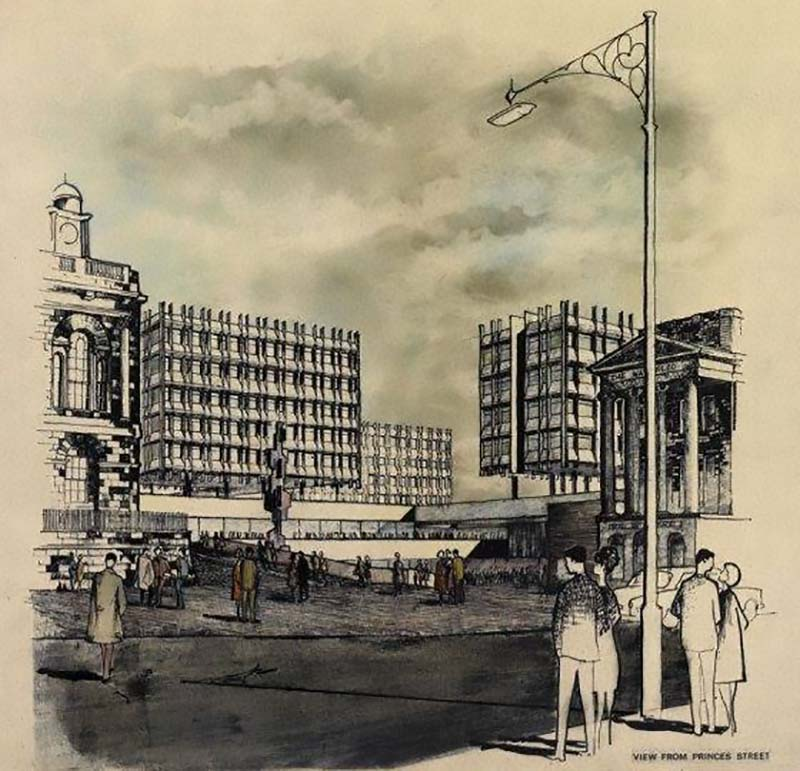 1962 – Unbuilt Proposal for St. James, Edinburgh