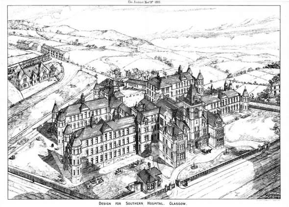 1883 – Design for Southern Hospital, Glasgow