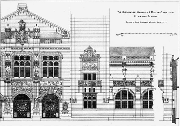 1892 – Kelvingrove Museum Competition, Glasgow