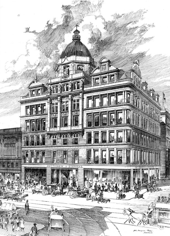 1899 &#8211; Pettigrew &#038; Stephens Department Store, Sauchiehall Street, Glasgow
