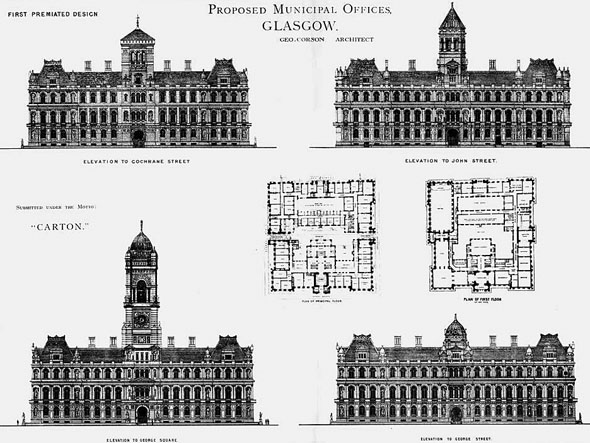 1880 – Proposed Municipal Offices, Glasgow