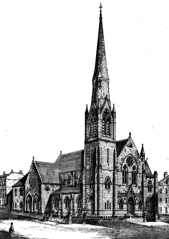 1875 &#8211; Design for Baptist Church, Bath St., Glasgow