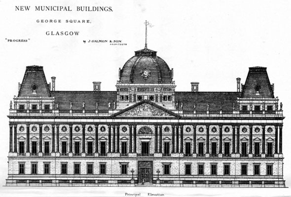 1880 – Design for New Municipal Buildings, Glasgow
