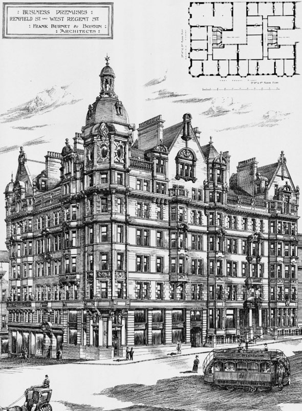 1898 &#8211; Premises, Renfield Street &#038; West Regent Street, Glasgow