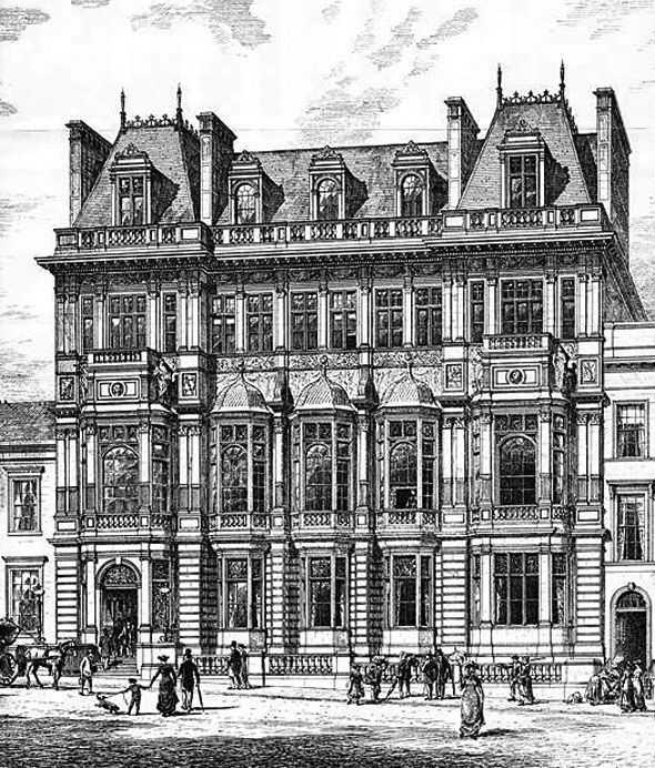 1880 &#8211; &#8220;New Club&#8221; Buildings, Glasgow