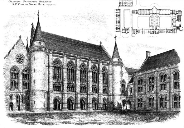 1880 – Bute Hall, Glasgow University