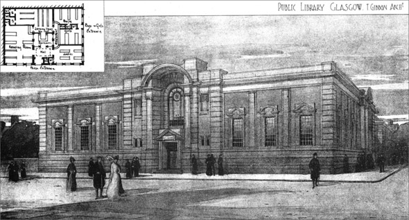 1906 &#8211; Public Library, Glasgow, Scotland