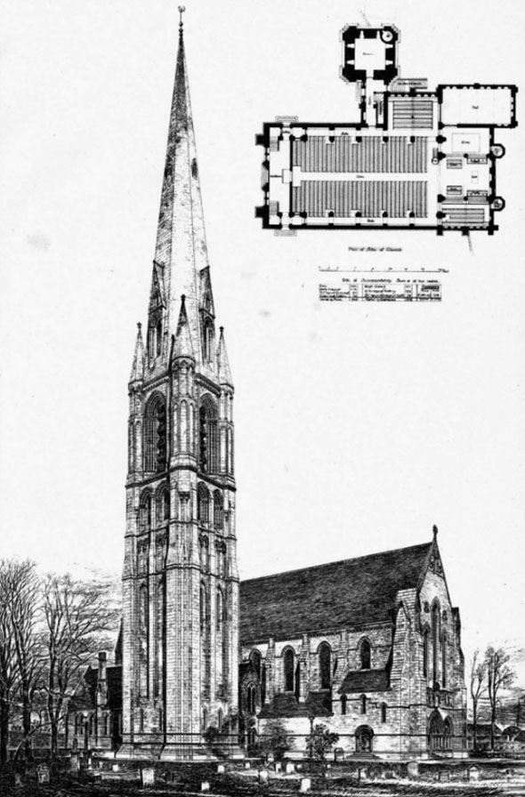 1888 – New Parish Church, Govan, Glasgow, Scotland