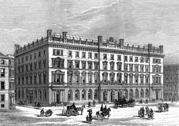 1878 – Design for new Post Office, George Sq., Glasgow, Scotland