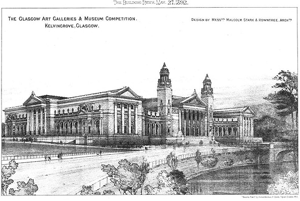 1892 &#8211; Kelvingrove Museum Competition, Glasgow