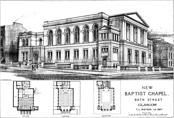 1875 – Baptist Chapel, Bath St., Glasgow