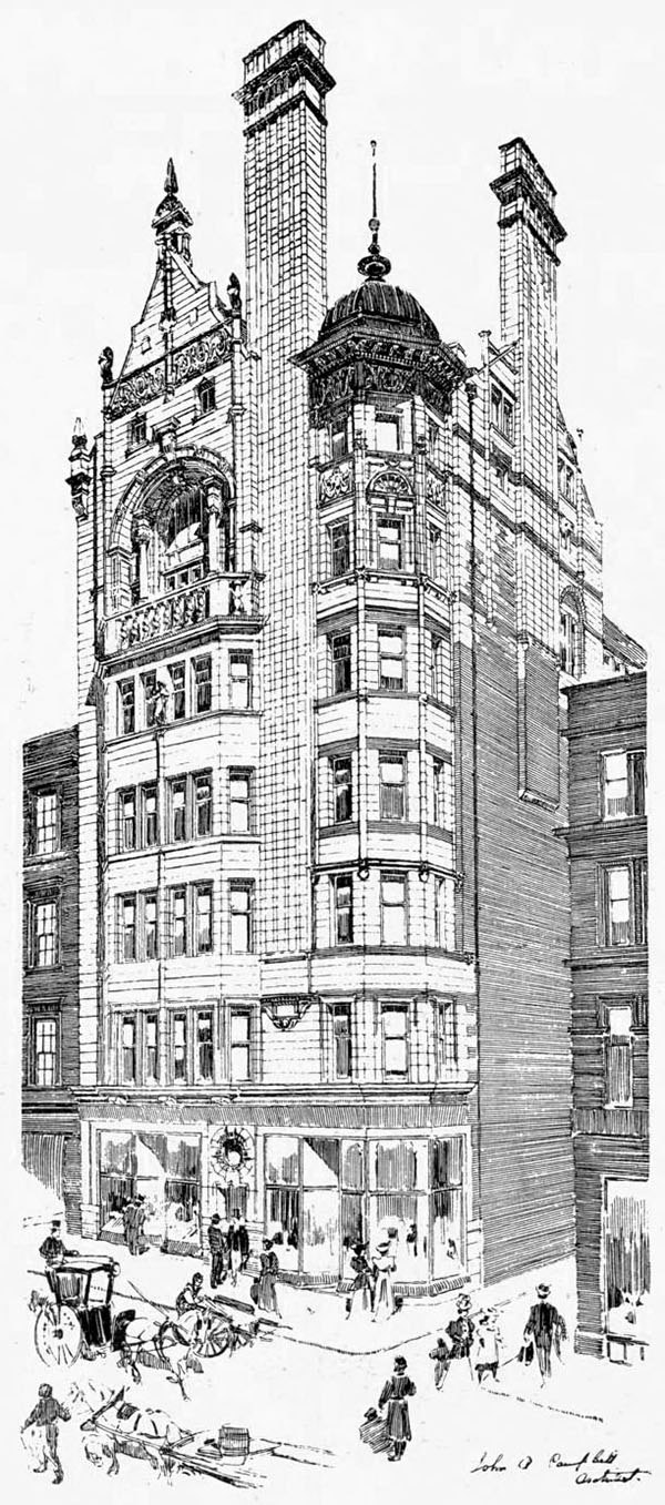 1898 – Britannia Assurance Building, 166 Buchanan St., Glasgow
