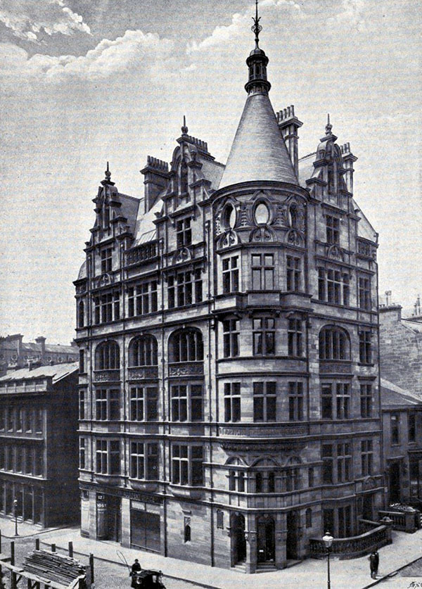 1898 – Norwich Union Chambers, 128 Hope St., Glasgow