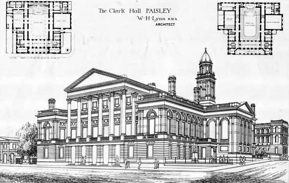 1882 – Town Hall, Paisley, Scotland