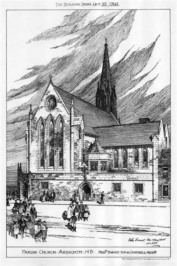 1895 &#8211; Parish Church, Arbroath, Scotland