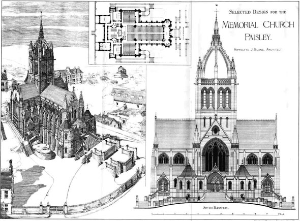1885 – Thomas Coats Memorial Church, Paisley, Scotland