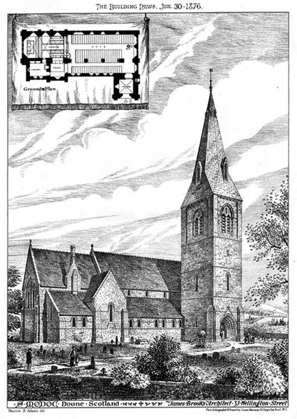 1876 – Church of St. Modoc, Doune, Scotland