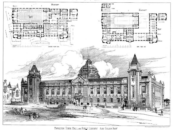 1904 &#8211; Hamilton Town Hall &#038; Public Library, Scotland