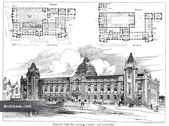 1904 – Hamilton Town Hall & Public Library, Scotland