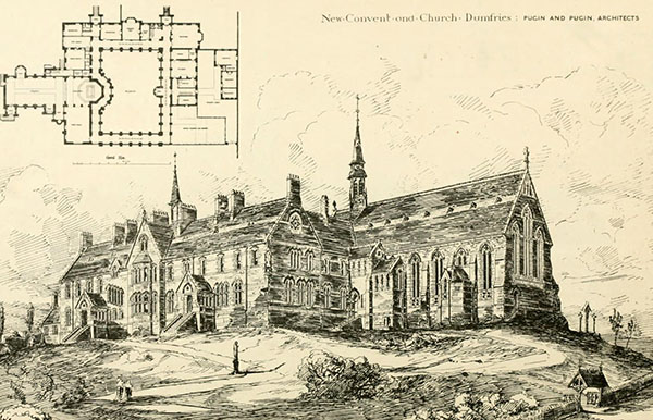 1881 – New Convent and Church, Dumfries, Scotland