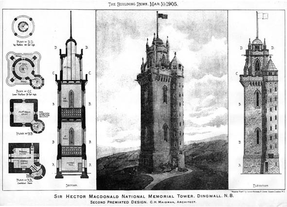 1905 – Macdonald Memorial Tower, Dingwall, Scotland