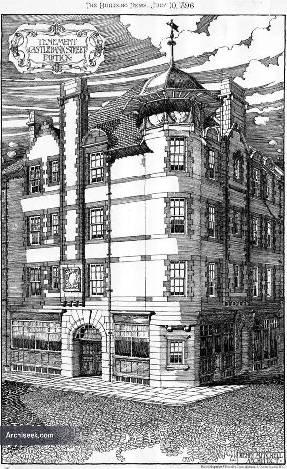1896 – Tenement, Castlebank Street, Partick, Scotland