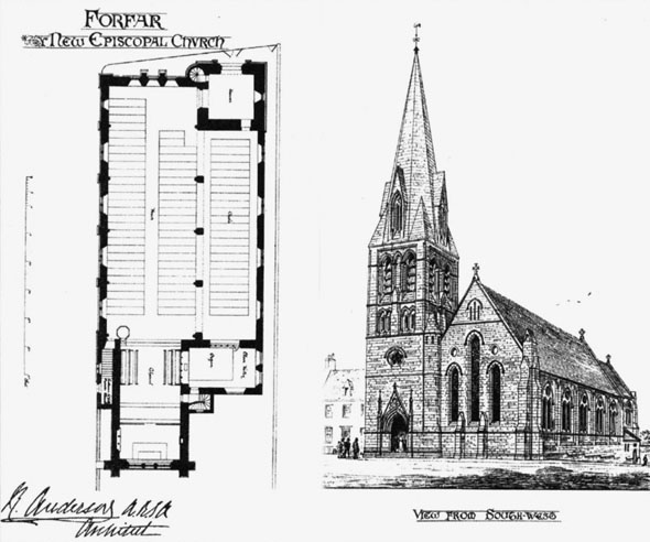 1881 &#8211; Forfar Episcopal Church, Angus, Scotland