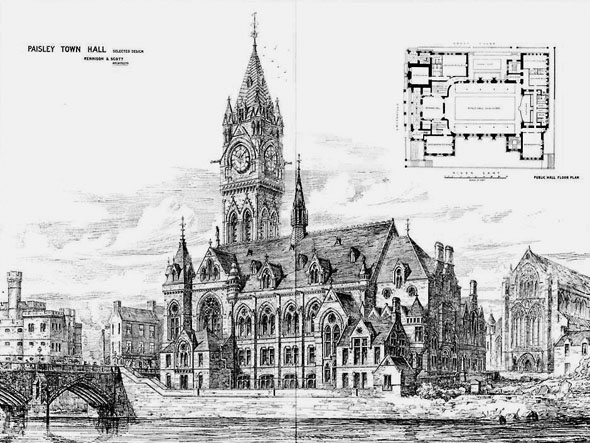 1875 – Paisley Town Hall, Scotland