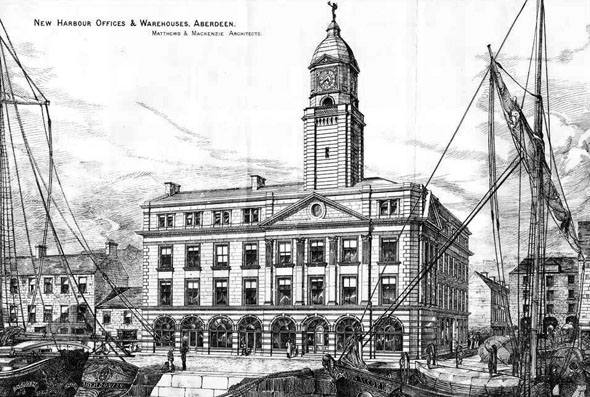 1883 – New Harbour Offices & Warehouses, Aberdeen, Scotland