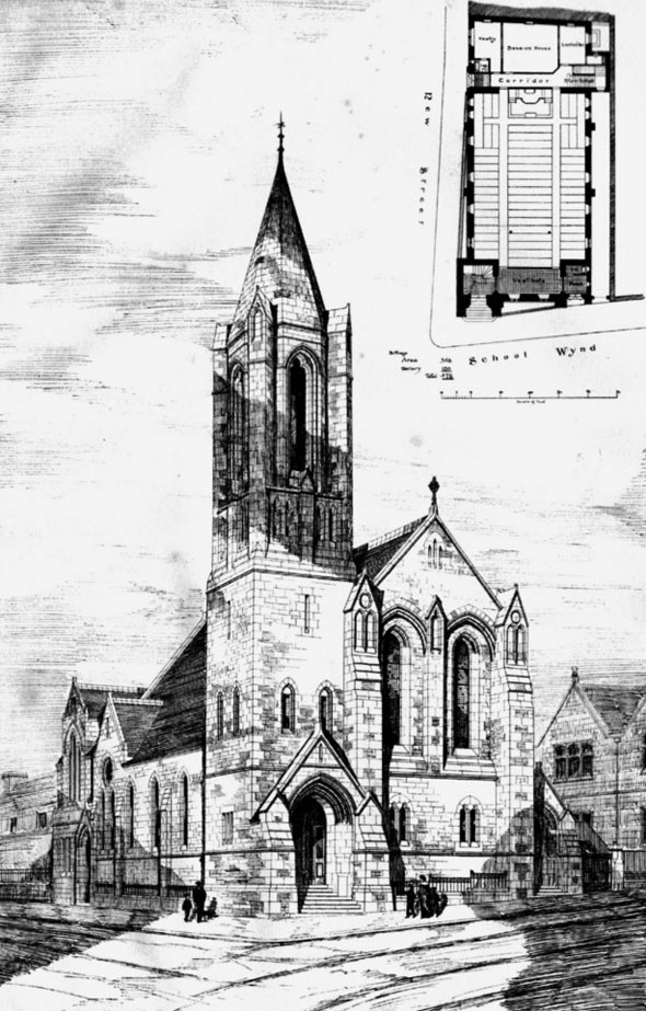 1886 &#8211; New Congregational Church, Paisley, Scotland