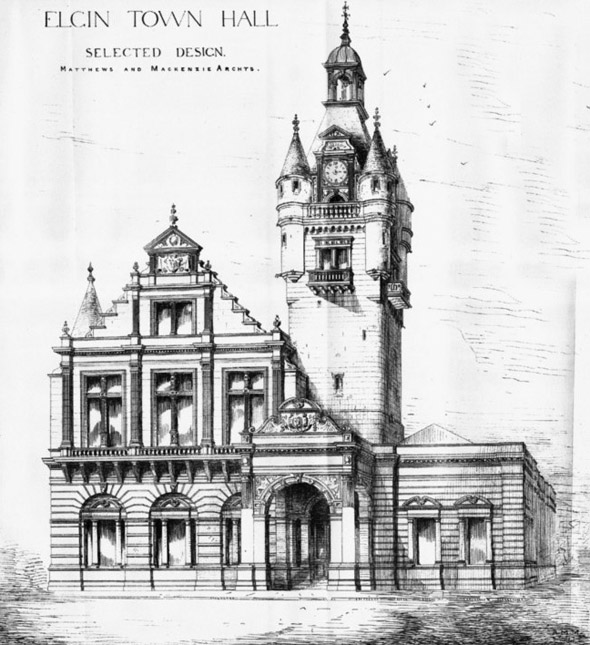 1883 – Elgin Town Hall, Morayshire, Scotland